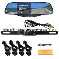 License Plate Car Rearview Camera Bluetooth mirror