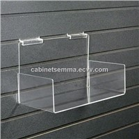 "Slatwall Acryli Accessory-Perspex Acrylic Shelf with Sides  10""x6""x4"""