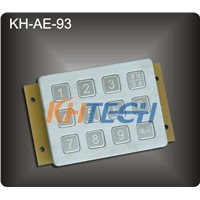 12 Keys Industrial metal keypad