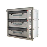 12 trays stainless steel electrical deck oven