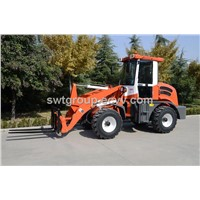 1.2 ton new wheel loader with front pallet fork