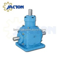 1 to 1 reverse output bevel gear box, spiral bevel right angle gearbox 4:1