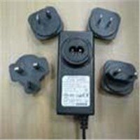 24V1A Power Adapter with exchangeable plugs