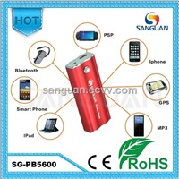 5600mah Universal Portable Power Bank for Mobile/ iPhone / iPad / GPS