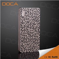 6500mAh external Power Bank with leopard color for Samsung HTC blackberry