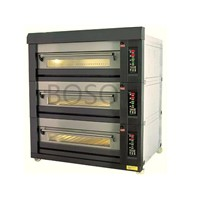 6trays stainless steel deck oven