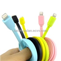 8Pin Flat Cable for iPhone 5 Charging and Data sync (ACM-022-01)