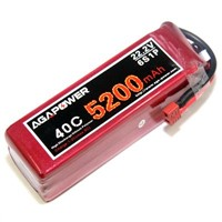 AGA 5200mAh 22.2V 40C RC Lipo Battery