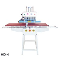 Bottom Glide Pneumatic Printer - Print Flat Substrates (Video) - Fabric Heat Transfer Machine - QA
