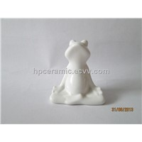 Ceramic Sitting Yoga Frog, Animal Figurines