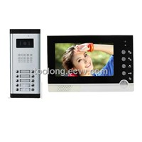 Cheapest 7 Inch Video Intercom System for 10-Apartments