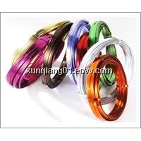 Color flat aluminum wire