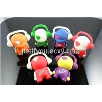 Custom Funny Music Guy USB Disk Flash Drive with Rohs from Shenzhen