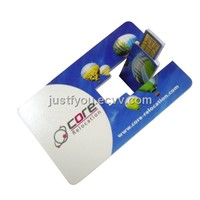 Customized Logo Card Pen Drive USB Disk with High Speed Chip