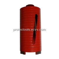 Dry diamond drill core bit