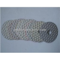 Dry diamond polishing pad