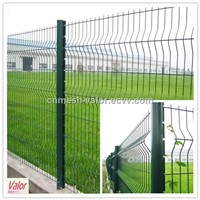 Electro or Hot Dipped Galvanized and Then PVC Coated Peach Post Fence