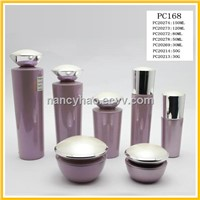 Elegant cosmetic glass bottles and jars
