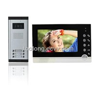 Factory Selling 7 Inch Video Intercom Door Access System for 6 Apartments
