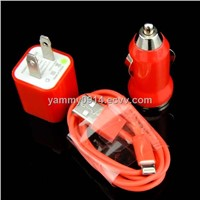 Good Quality New Arrival 3 in 1 Charger for iPhone 5 Manufacturer Exporter