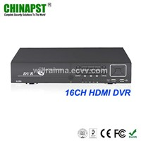 H.264 16CH Real Time +HDMI Port +VGA Port Security Camera DVR  PST-DVR416H
