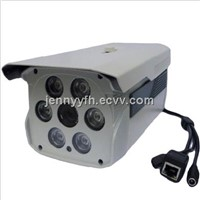 IR IP network CCTV camera with 80m night vision,poe/alarm/audio/varifocal/ optional