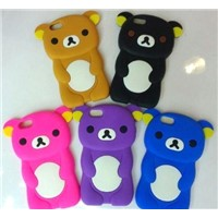 Lovely animal shaped silicone phone cover,cellphone case