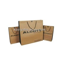 Manufacturer of kraft paper bag with handle for package environmental bag