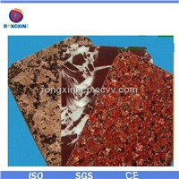 Marble style surface aluminum composite panel