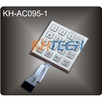 Metal keypad for access control systems