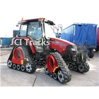 Middle tractor rubber track conversion systems