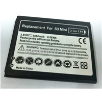 Mobile Phone Battery with 1,550mAh Capacity, Replacement for Samsung Galaxy S3 mini/GT-i8190