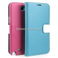 Mobile genuine leather case for Samsung Galaxy Note2 N7100 flip case