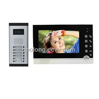 New 7inch Video Door Phone System for 12 Apartments