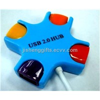 New Design Cross Shape 4 Port USB Hub