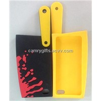 New design top selling kitchen knife silicone phone case,phone cover