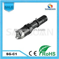 Offensive Head Cree Q5 Aluminum LED Flashlight for Police