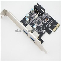 PCI Express to SuperSpeed USB 3.0 2-Port Expansion Card with 5V 4-Pin Power Connector for Desktops