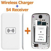 Portable Ultra Slim Qi Receiver Adapter +Wireless Charging Pad Wireless Charger