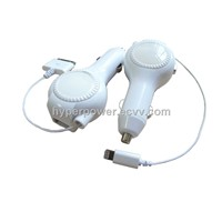 Retractable USB Car Charger for iPhone