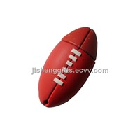 Rubby Ball Shaped USB Flash Drive 4GB/ 3D Soccer PVC USB Pen Drive