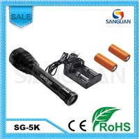 Sanguan Wholesale 5* Cree T6 LED 4500lm Rechargeable Flashlight