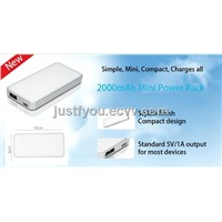Small and Slim Portable Mobile Phone Power Supply 2000mAh