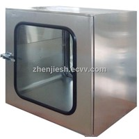 Stainless steel pass box with hepa filter