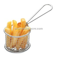 Stainless Steel Wire Mesh Chip Frying Basket