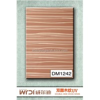 UV Wood grain mdf board for kitchen cabinet