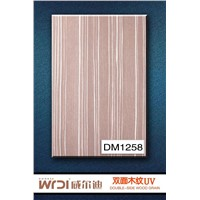 UV coated wood grain board for kitchen cabinet