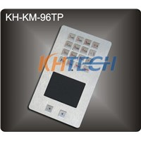 Vandal proof metal multifunction integrated keypad with touchpad