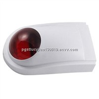 Wireless outdoor fire siren with strobe