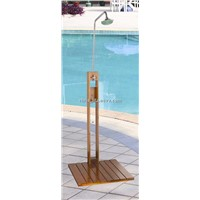 Wood Outdoor Pool Shower CF7409B
